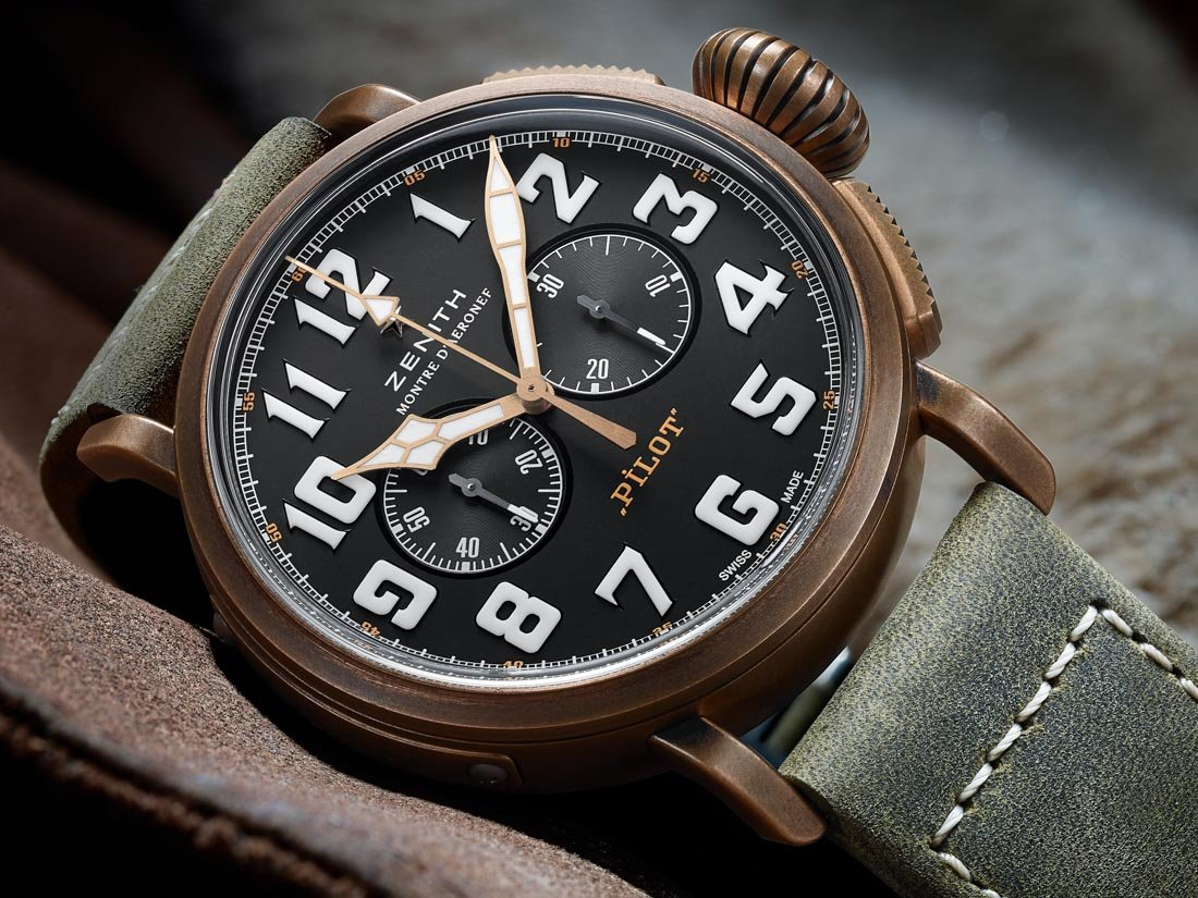 Zenith cased this watch in bronze.