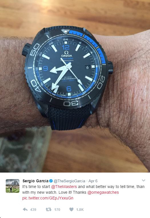 Athletes like Sergio Garcia make Omega proud.