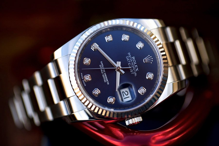 The Datejust is a luxurious watch that features a cyclops lens.