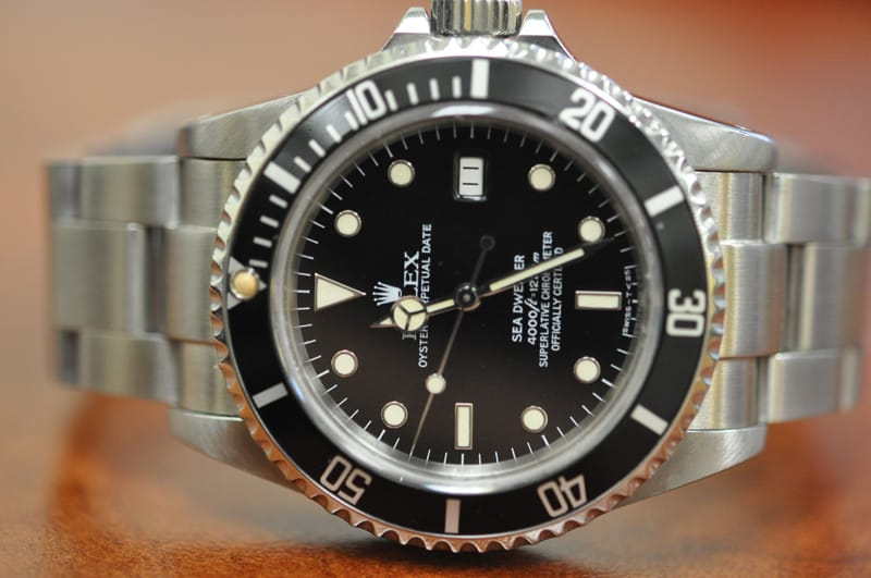 The Rolex Sea-Dweller ref. 16660 can go to a depth of 4000 ft.