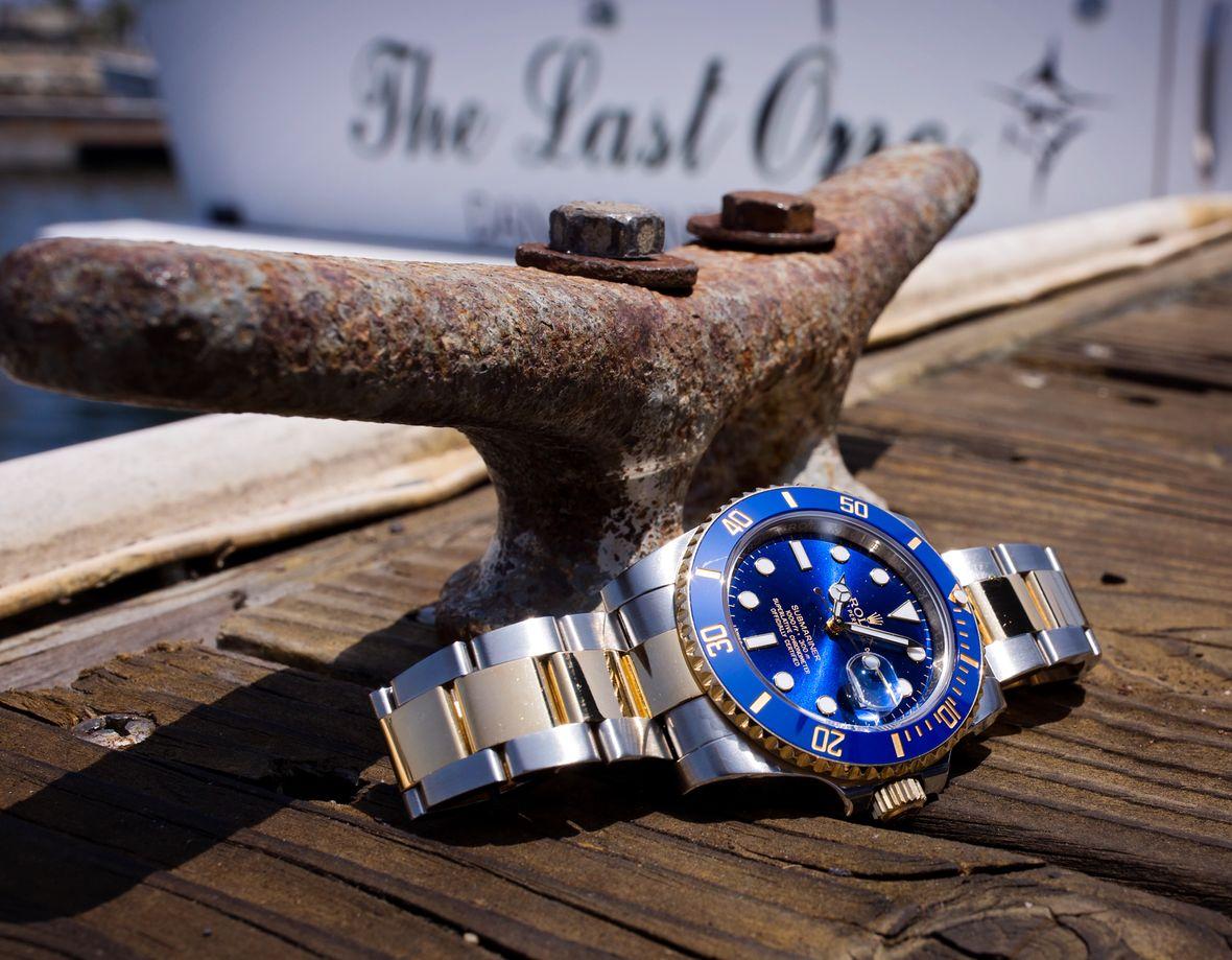 Rolex Submariner 116613LB Sunburst Blue Dial