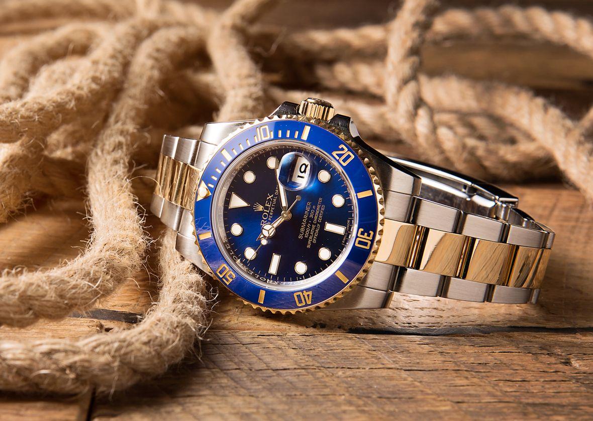 Rolex Submariner Reference 116613 Blue Sunburst Dial