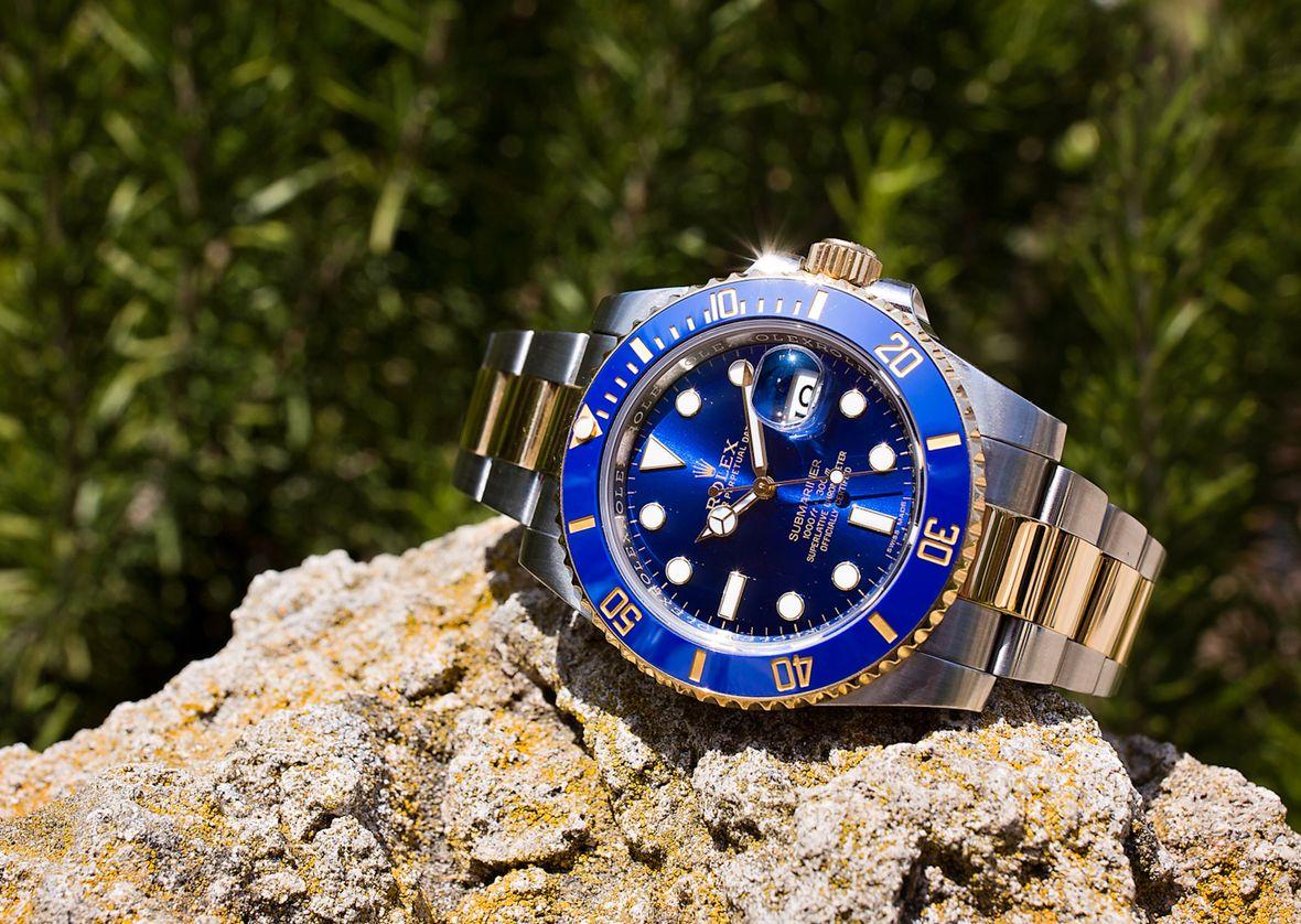 Rolex Submariner Reference 116613 116613LB Blue Sunburst Dial