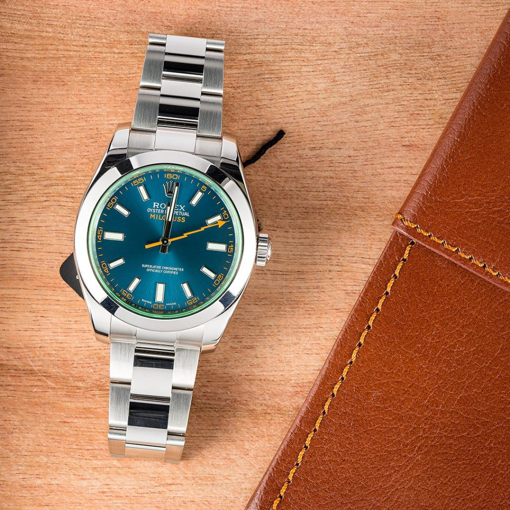 The Rolex Milgauss 116400GV is a stunning variation of the original