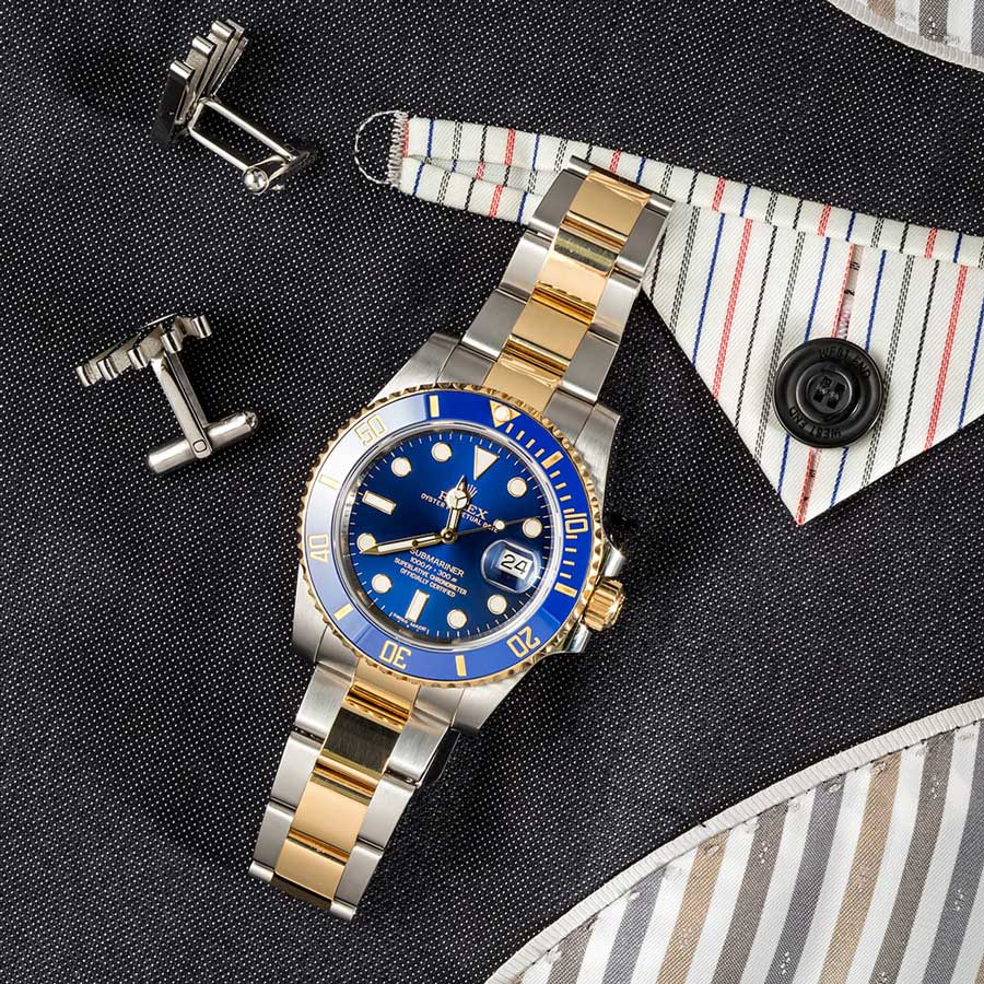 Rolex Submariner Two-Tone 116613 Review and Buying Guide blue dial cerachrom bezel