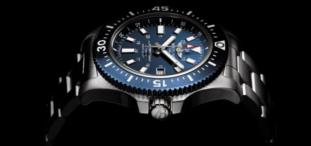 abyss blue superocean satin style chronograph watches black ii diver htm iii breitling folding no pro