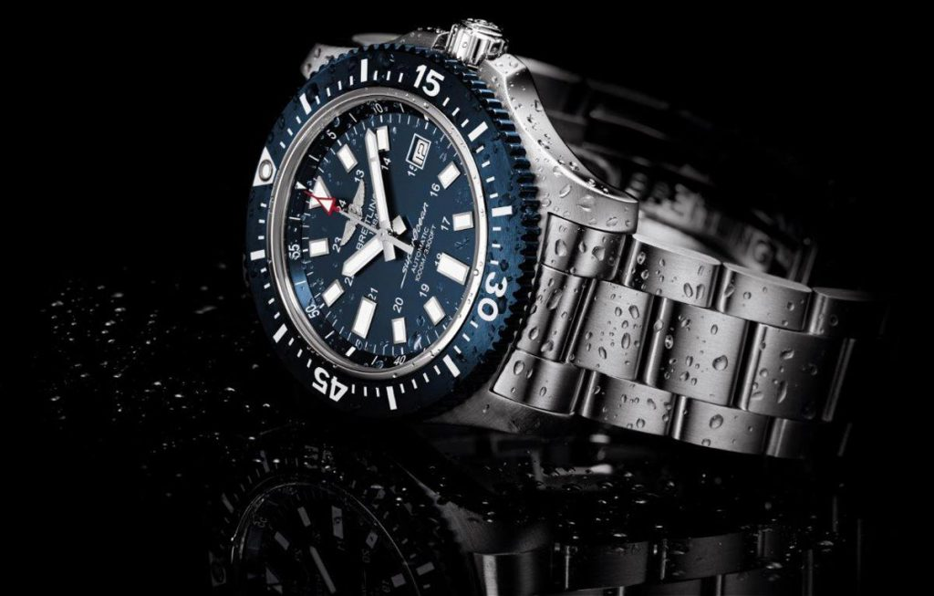 edition breitling diver limited orange watch an superocean water white elegant with watches