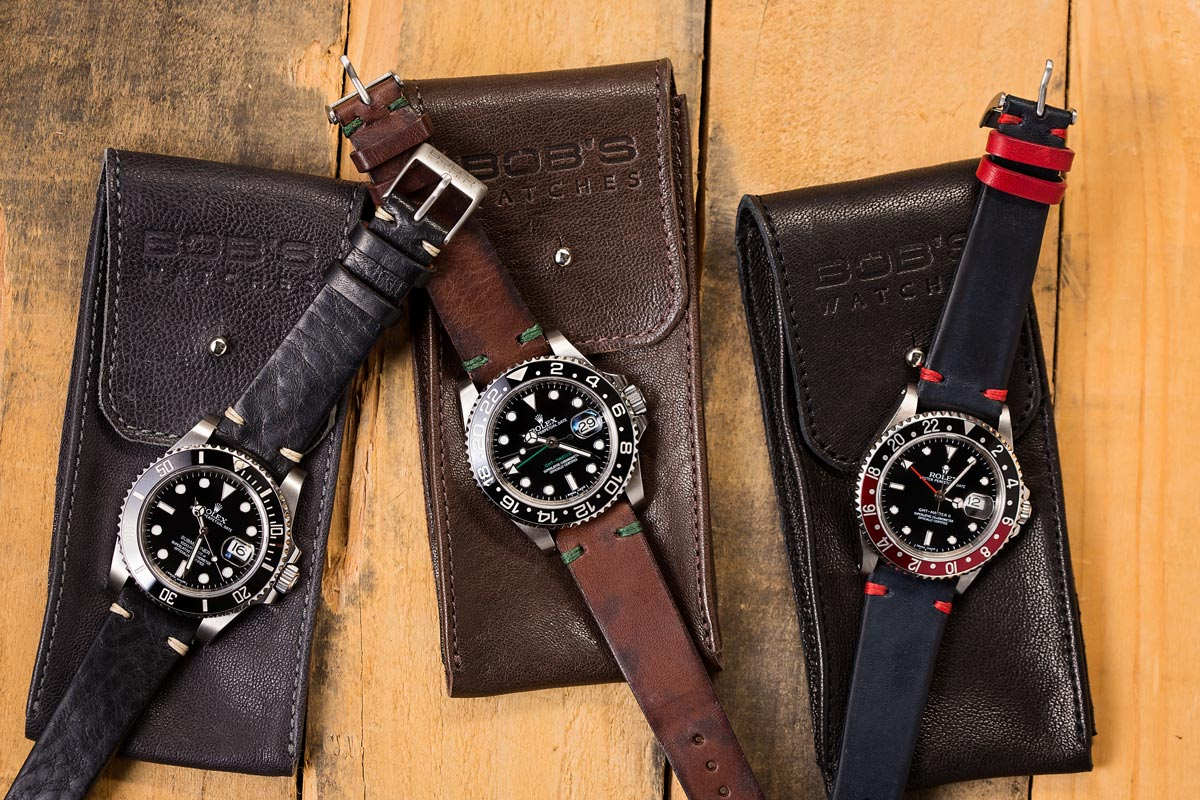 Rolex leather straps are easy get.