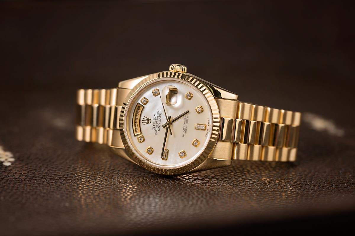 Gold Rolex Presidential Best Value Reference Diamond Dial 118238