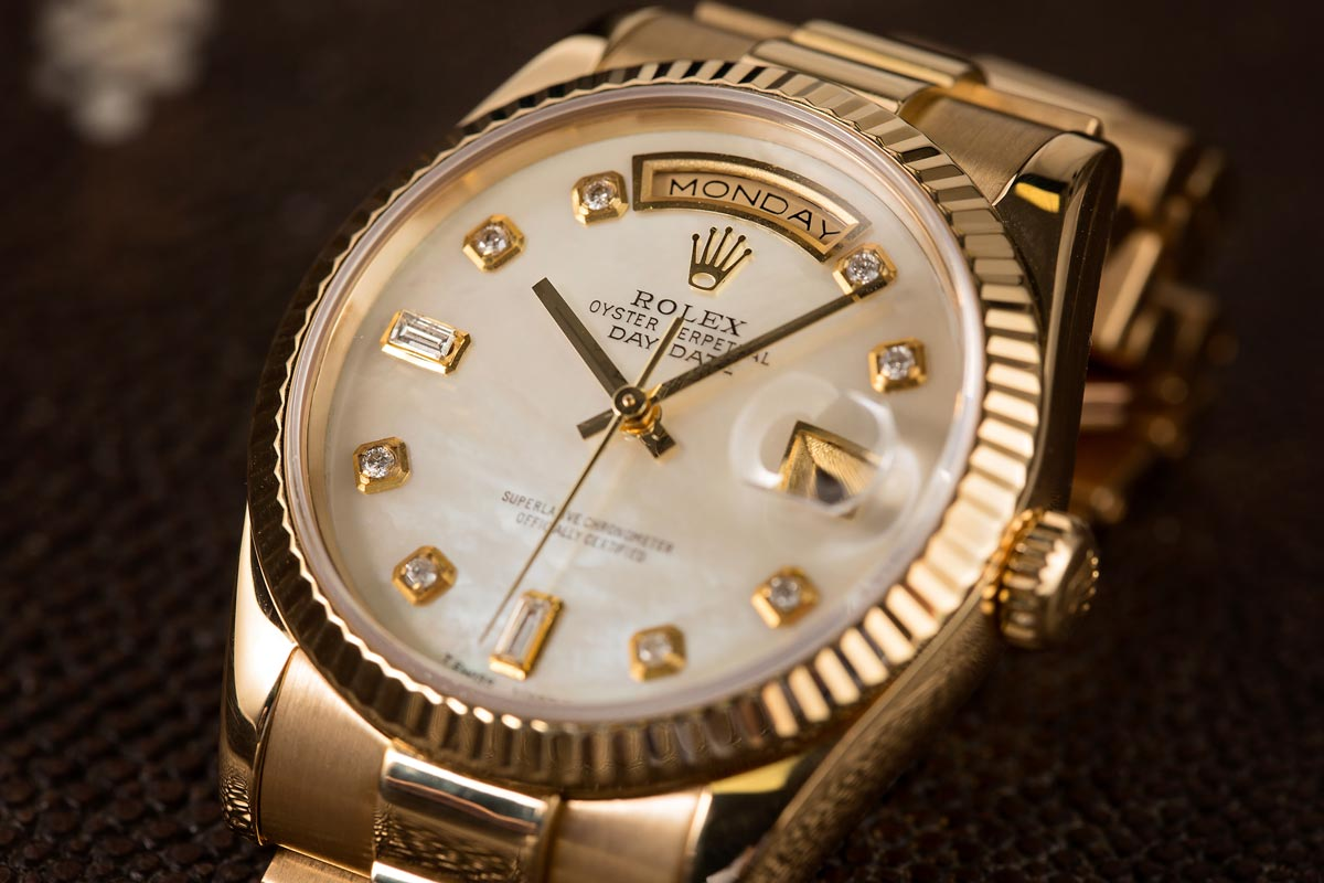 Diamond Rolex Watches Diamonds type Gold President Mother of Pearl