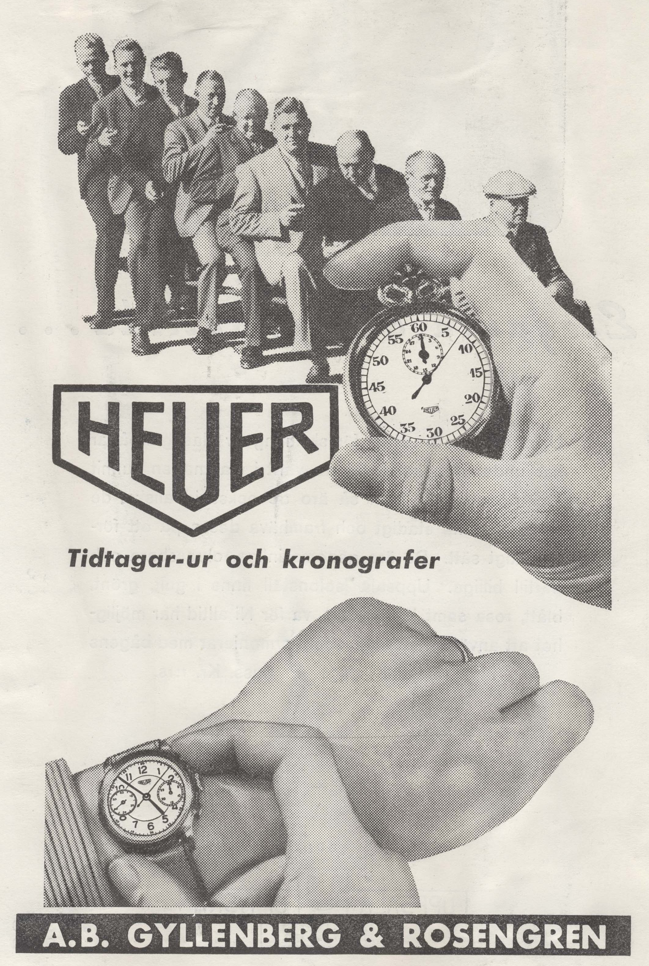 A Heuer advertisement from 1941