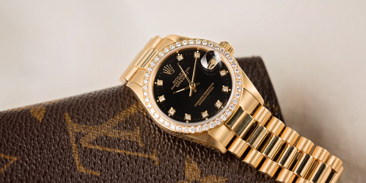 Datejust Black and Gold Rolex