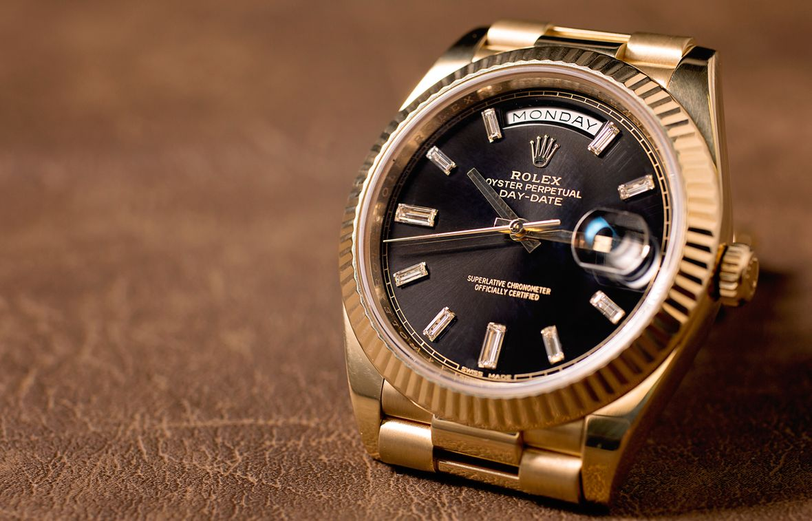 Gold Rolex Day-Date II vs Day-Date 40 Reference 228238 Diamond Dial