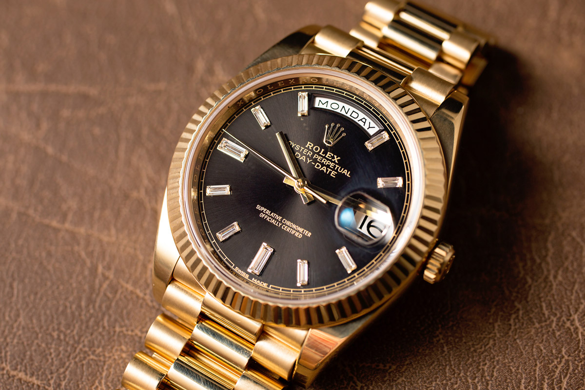 Oyster, President, or Leather for the Rolex Day-Date? - Bob's Watches