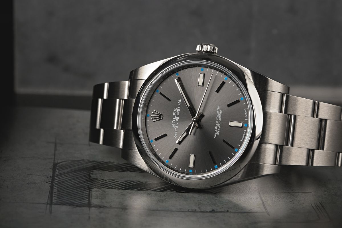 Stainless Steel Rolex Oyster Perpetual 39 114300