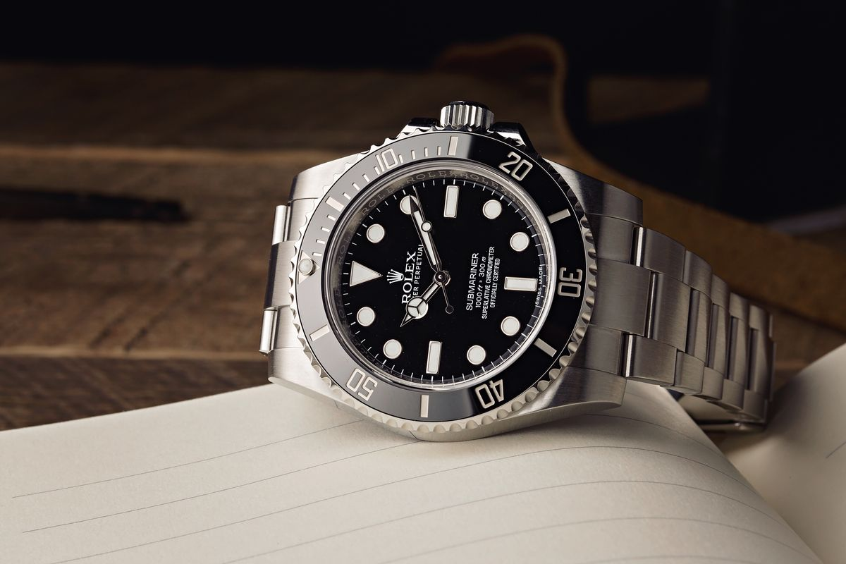 Stainless Steel Rolex Submariner 114060 No-Date