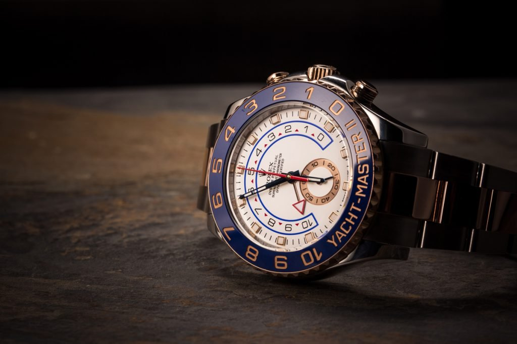 The rolex yacht-master features a Ring Command