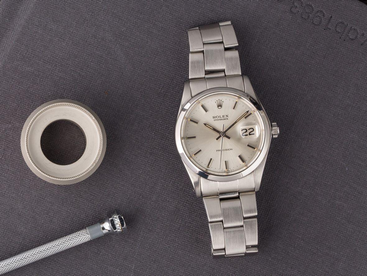 Rolex Oysterdate Precision 6694 Silver Dial