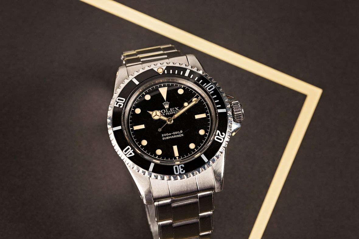 Vintage Rolex Submariner 5512 gilt exclamation point dial