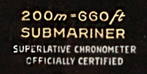 Rolex Submariner ref 5512