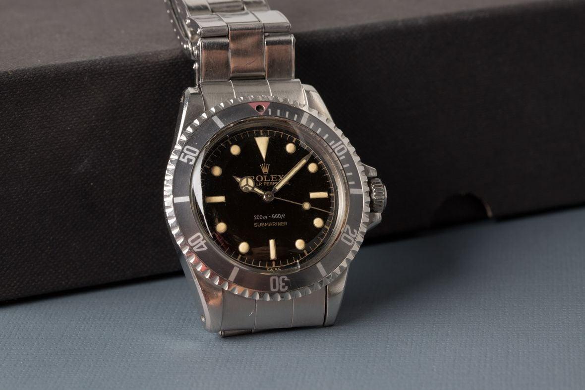 Vintage Rolex Submariner 5512 gilt dial rivet bracelet