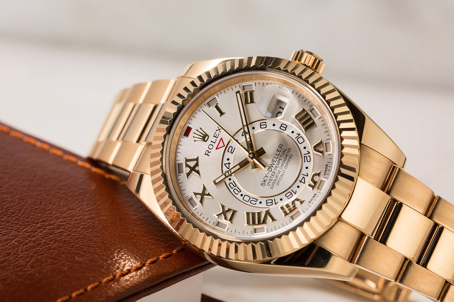Rolex Sky-Dweller blue dial yellow gold
