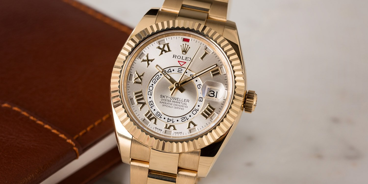 Rolex Sky-Dweller GMT Function Yellow Gold Roman Dial 326938