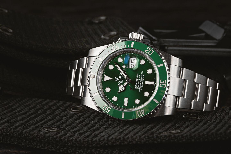 Green Rolex Submariner Watches Hulk or Kermit 116610 LV