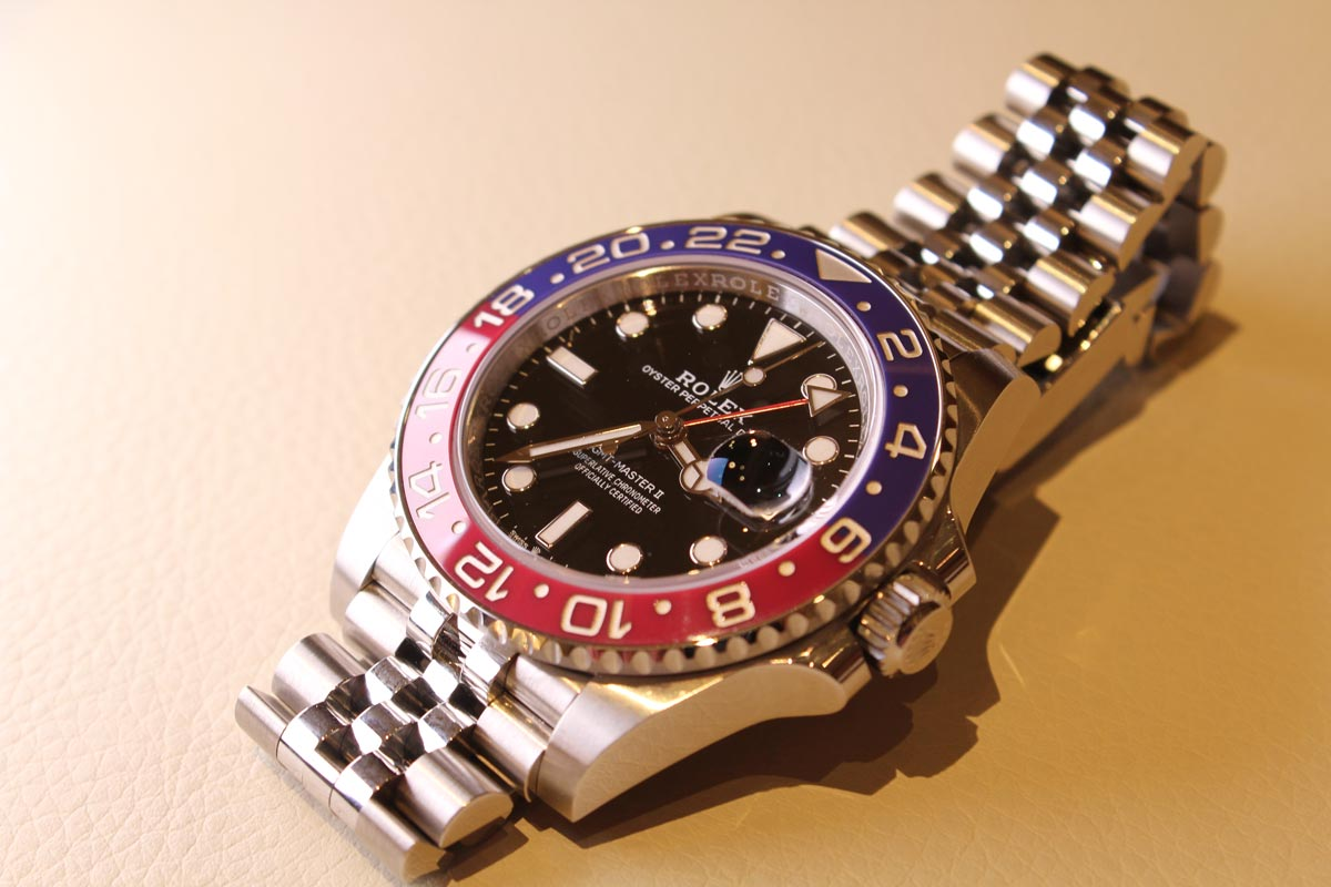 The GMT Master II with a 24 hour bezel