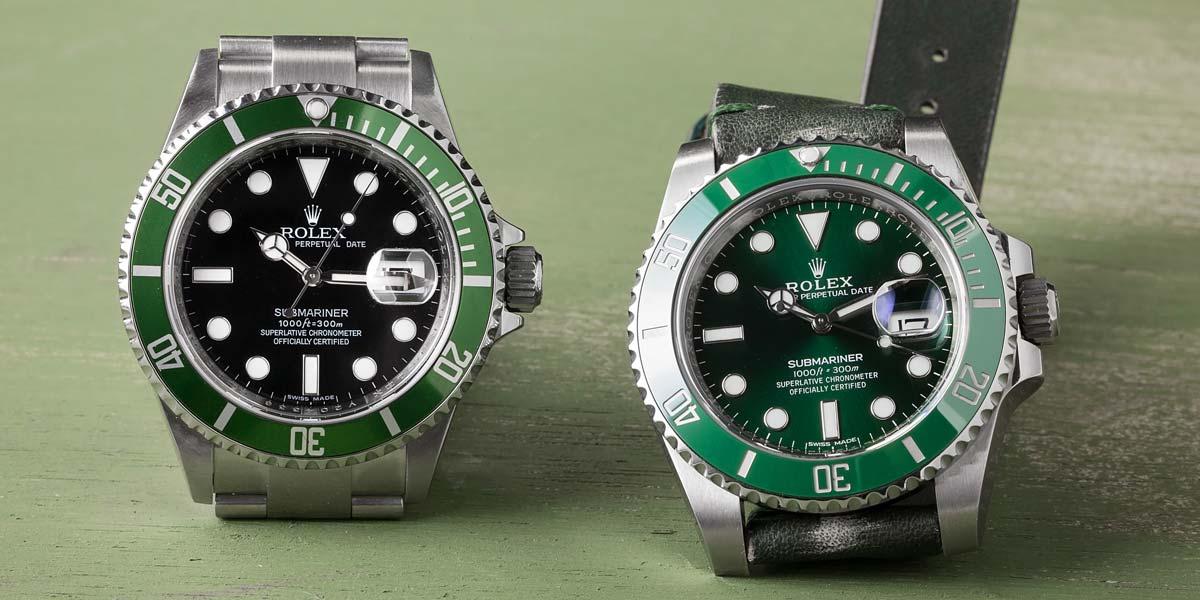 Rolex Submariner Green Watches Hulk vs Kermit
