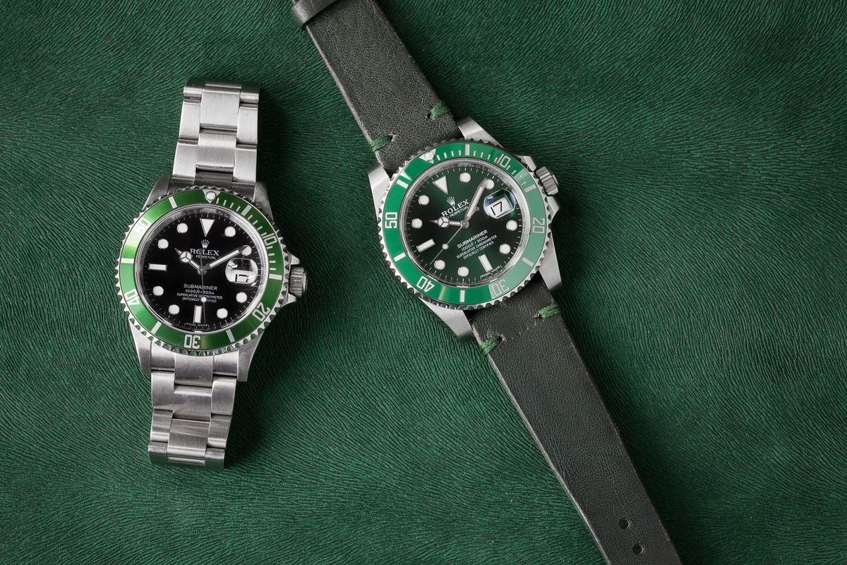 Rolex Submariner Green Watches Hulk vs Kermit Comparison