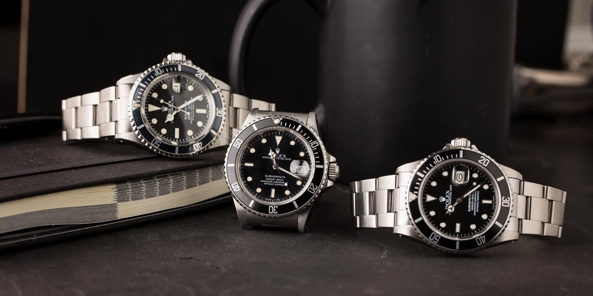 Rolex Submariner Black Different Types of Bezels