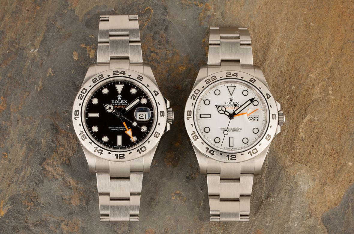 Rolex Explorer II 216570 Watches Black and White Dials