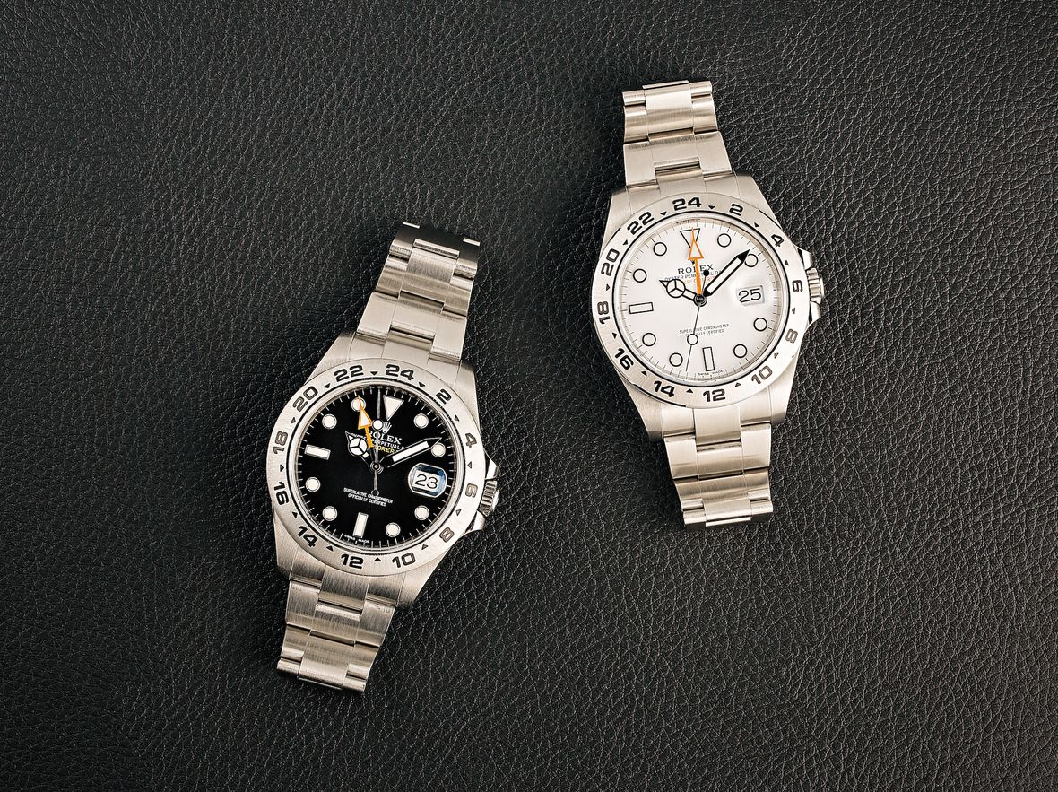 Stainless Steel Rolex Explorer II Watches 216570 Black and White