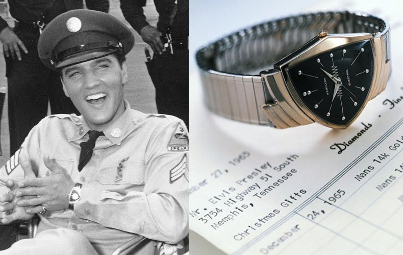 Elvis Presley wore a Hamilton Ventura in Blue Hawaii