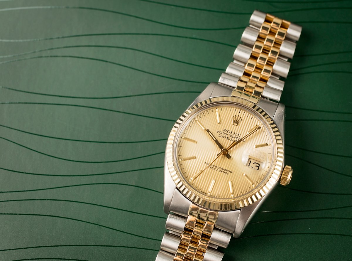 brand history rolex datejust two-tone 16013