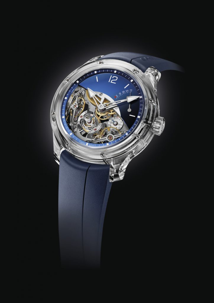 The newly unveiled Double Balancier Sapphire is exclusively for North America