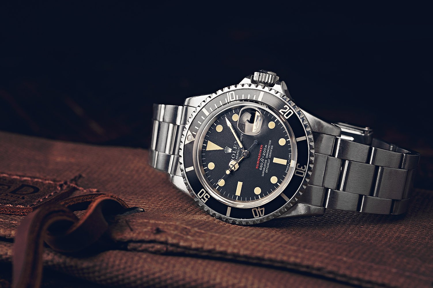 Vintage Rolex Red Submariner dive watch