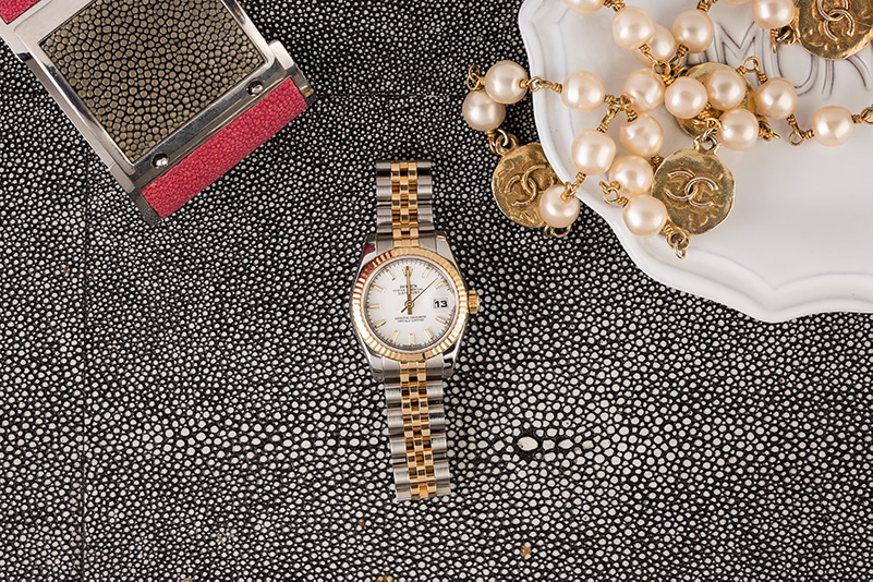 Featured: a Ladies Datejust 117892 with silver and gold makes a great mother's day gift