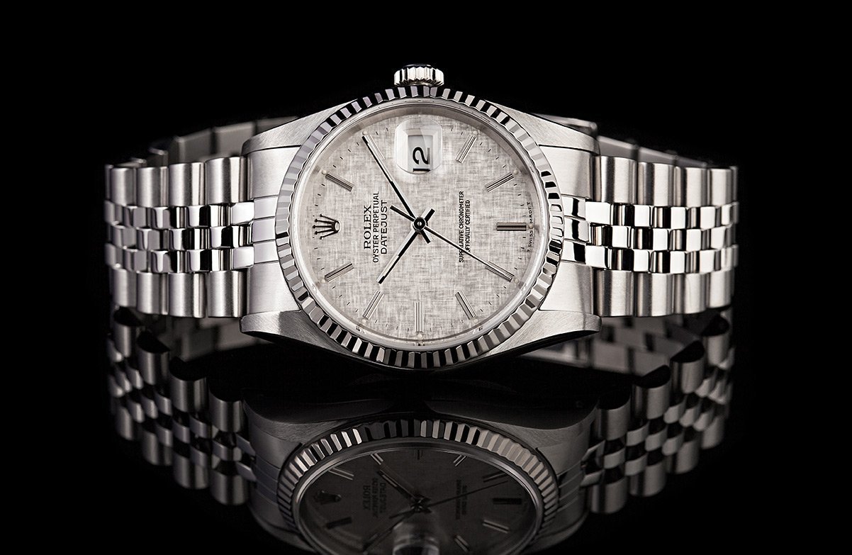 Rolex Oyster Perpetual Datejust White Rolesor 16234