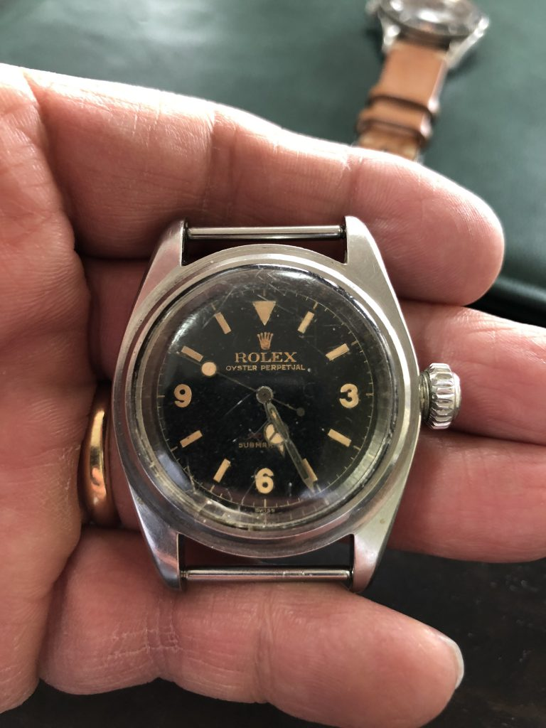 Bob's Watches owner Paul Altieri was able to get his hands on the ultra-rare Submariner reference 6538 hours before the auction atChristie's