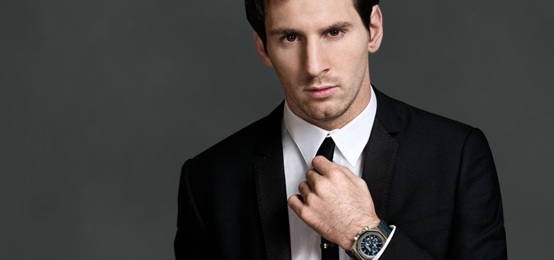 Leo Messi the sponsored by Audemars Piguet