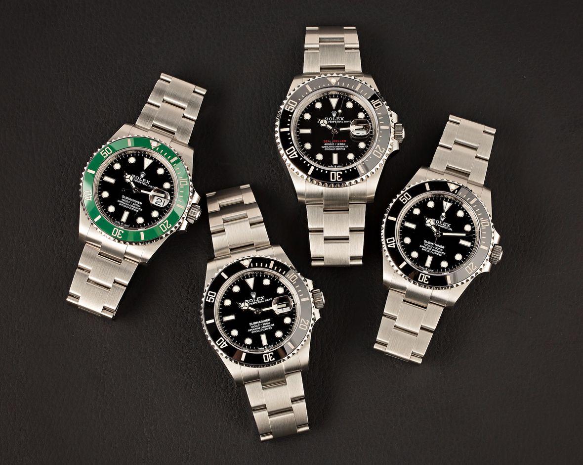 Oystersteel Rolex Dive Watches Submariner Sea-Dweller