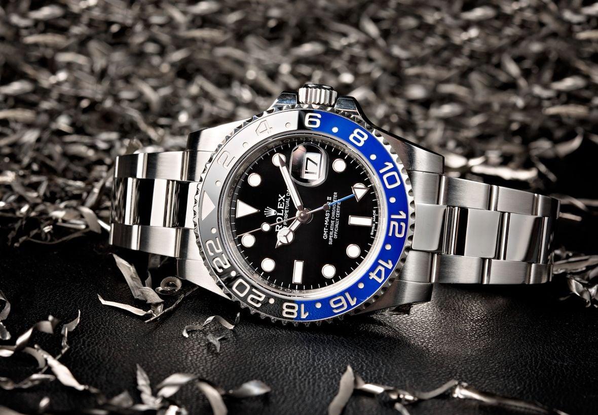 Oystersteel Rolex GMT-Master II Batman 116710BLNR Black Blue