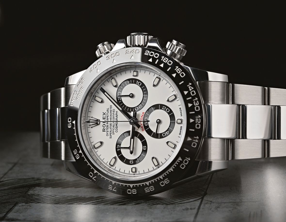 Oystersteel Rolex Daytona 116500 Cosmograph White Dial