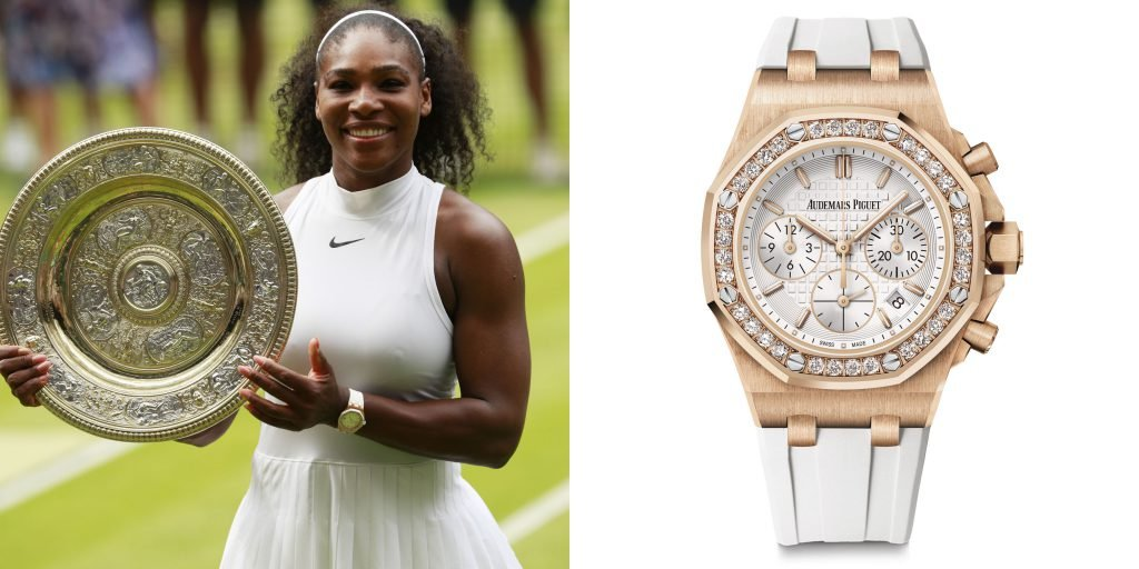 Serena Williams sporting an Audemars Piguet Royal Oak Offshore