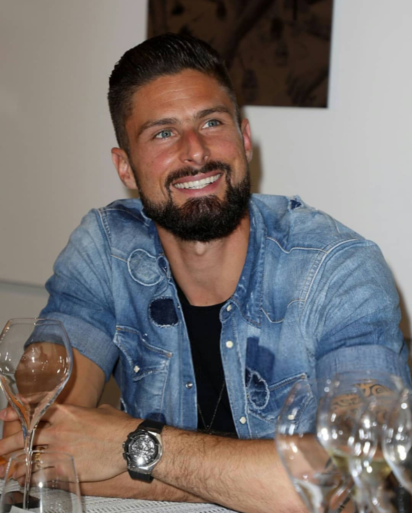 French Striker Olivier Giroud wearing a Hublot Big Bang