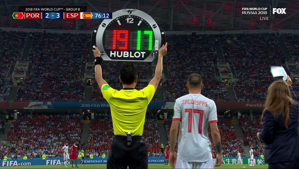 Hublot is the official timekeeping sponsor of the 2018 World Cup