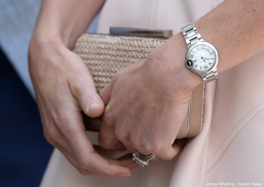 Kate Middleton of the Royal Family wearing a Cartier Ballon Bleu (photo courtesy of Splash News)