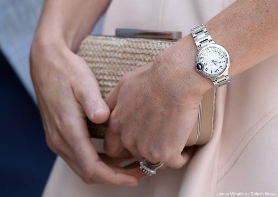 Kate Middleton of the Royal Family wearing a Cartier Ballon Bleu (photo courtesy of Splash News)